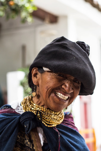 Smiling ecuadorian woman