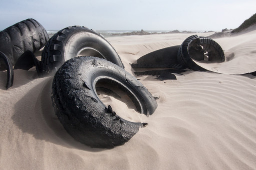Tires on the Beach