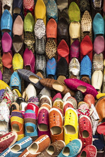 Tradicional Shoes on the Moroccan Market
