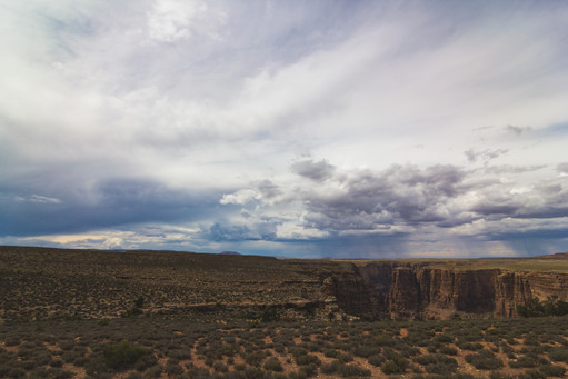 Stormy sky over the Grand Canyon