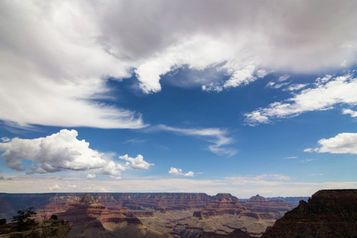 Cloudy sky over the Grand Canyon Colorado, US