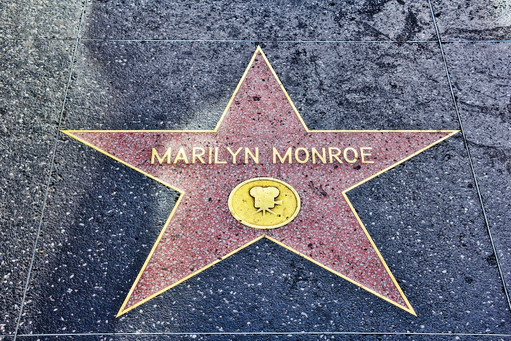 Marilyn Monroe Star Hollywood Boulevard, Los Angeles