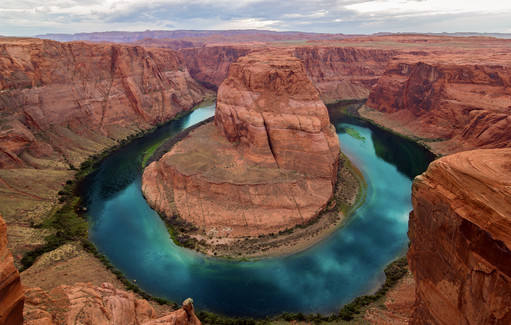 Horseshoe Bend, Canyon and Colorado River