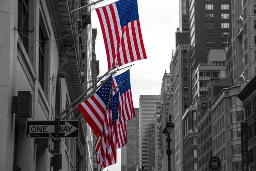 American Flag in New York City